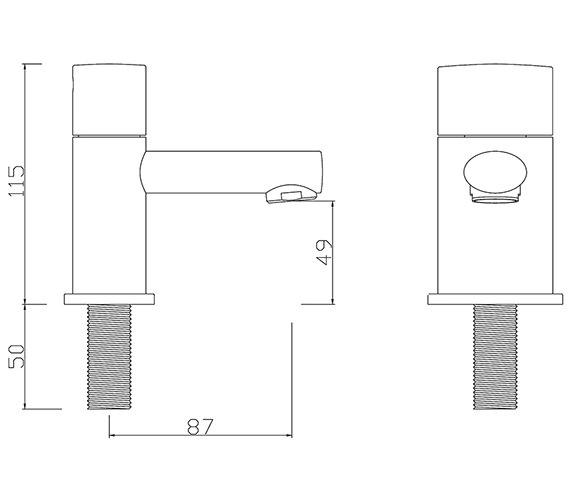 Technical drawing QS-V30283 / OV/101/C