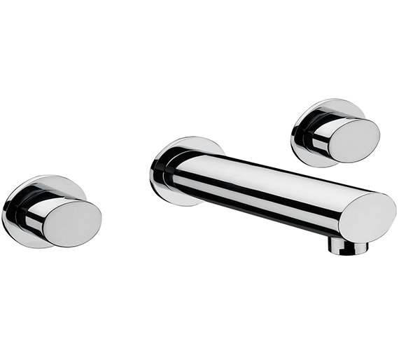 Sagittarius Oveta 3 Hole Wall Mounted Bath Filler Tap