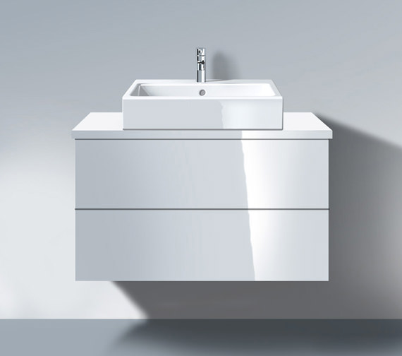 Duravit Delos 1000 x 565mm White High Gloss Unit For Console - DL679802222
