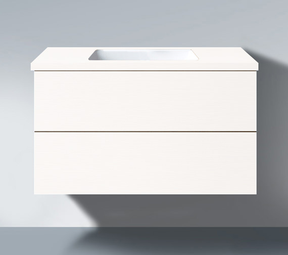 Duravit Delos 800 x 565mm White High Gloss Unit For Undercounter Basin