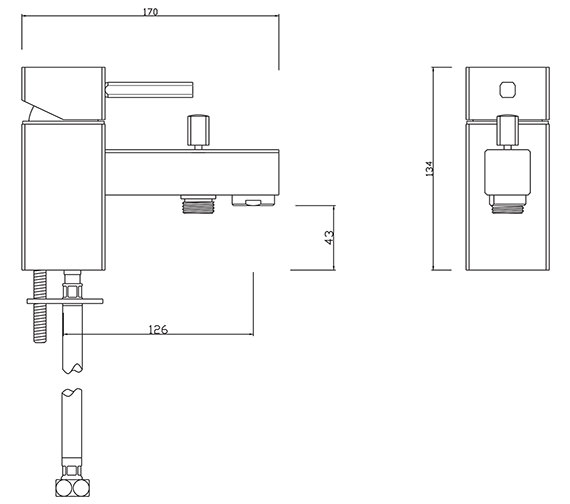 Technical drawing QS-V30454 / PA/205/C