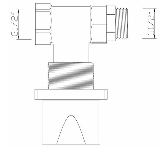 Technical drawing QS-V30556 / MA/195/C