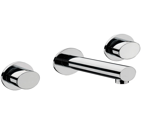 Sagittarius Oveta 3 Hole Wall Mounted Basin Mixer Tap