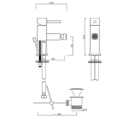 Technical drawing QS-V280 / PA/108/C