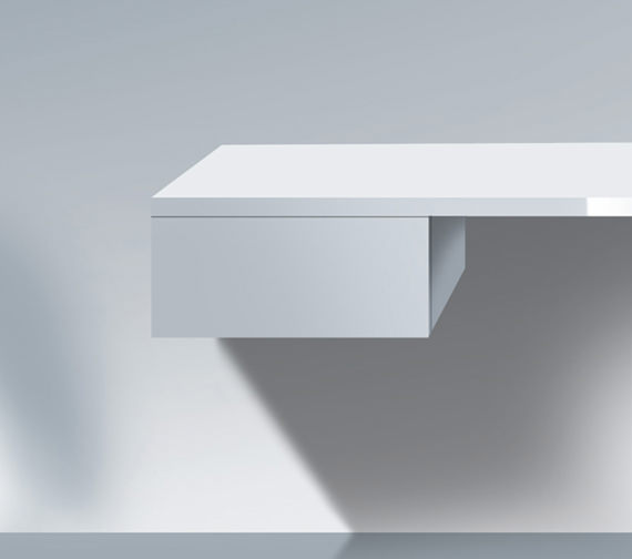 Duravit Delos 500 x 565mm 1 Drawer White High Gloss Cabinet For Console