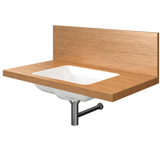 Duravit Delos 1 Cut Out Back Panel Console For Inset Basin - Brushed Oak