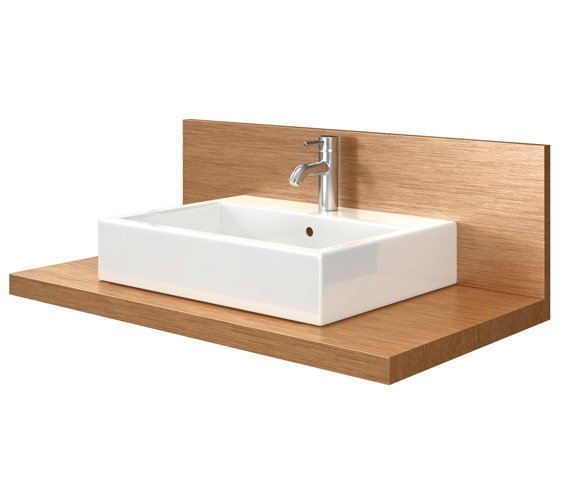 Duravit Delos 1 Cut Out Console With Back Panel - Brushed Oak