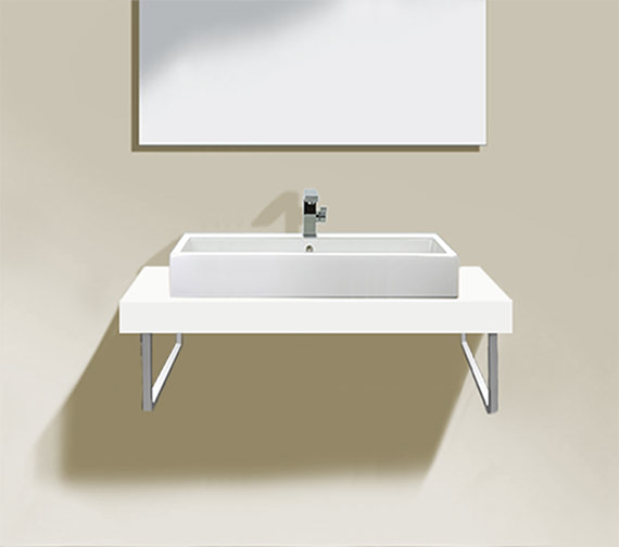 duravit fogo 1600 x 550mm white matt fixed console. Black Bedroom Furniture Sets. Home Design Ideas