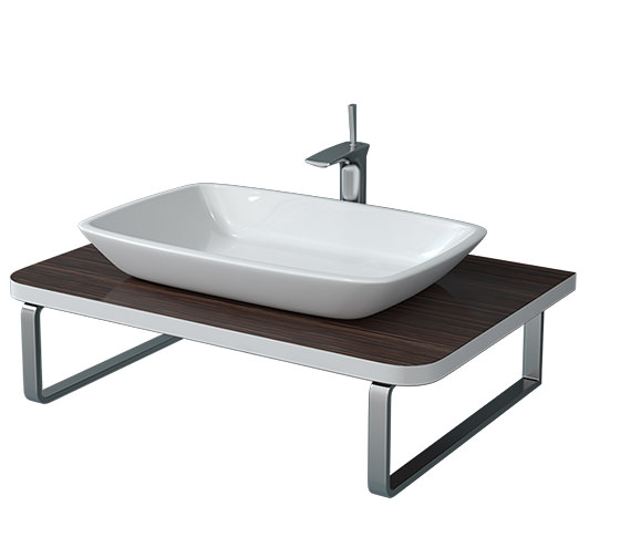 Duravit Puravida 800mm Ebony Back To Wall Console - PV071C08559