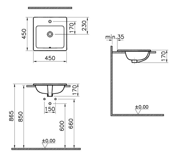 Technical drawing QS-V59813 / 5463B003-0001