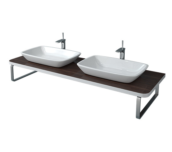 Duravit Puravida 800 x 550mm Ebony BTW 2 Cut-Out Console - PV072C08559