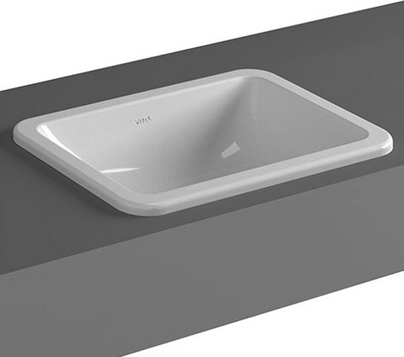 VitrA S20 450mm Wide Square Countertop Basin