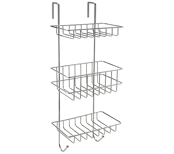 Sagittarius 225 x 185 x 570mm Shelf Tidy For Shower Cubicle