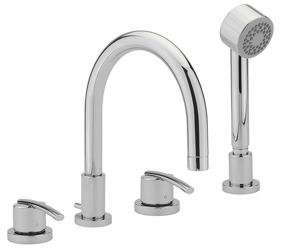 Sagittarius Pure 4 Hole Deck Mounted Bath Shower Mixer Tap