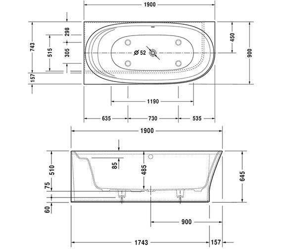 Technical drawing QS-V15544 / 700362000000000