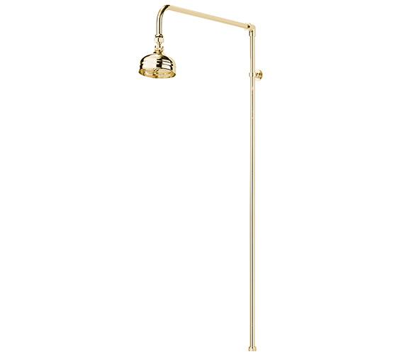 Sagittarius Churchmans Shower Rigid Riser Kit Gold