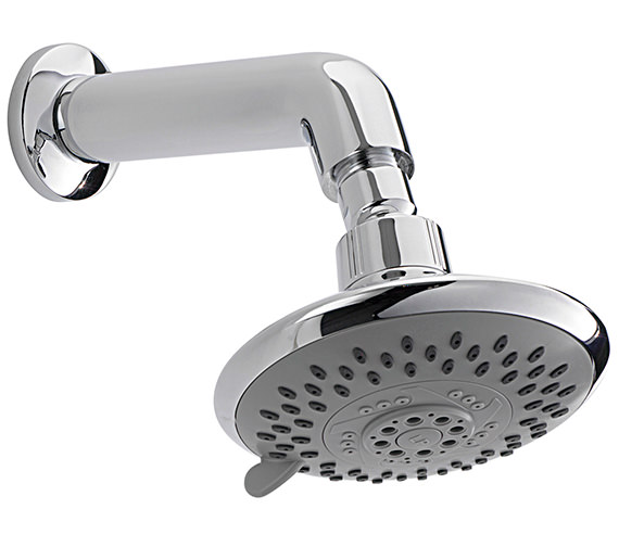 Sagittarius Storm 5 Mode 125mm Fixed Shower Head And Wall Mounted Arm