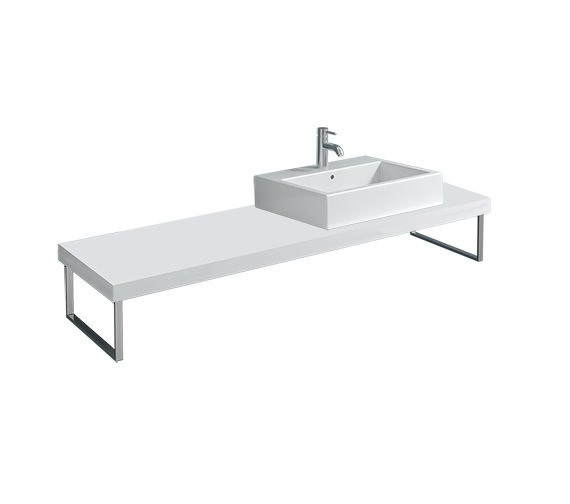 Duravit Fogo 800 x 550mm White Matt Console For Countertop Basin - FO089C