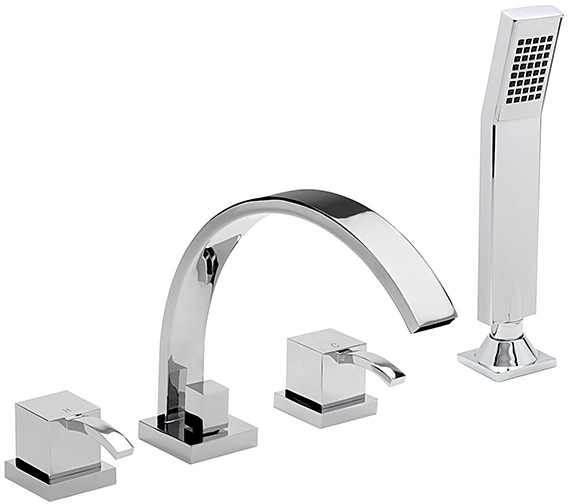 Sagittarius Arke 4 Hole Deck Mounted Bath Shower Mixer Tap