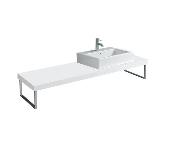Duravit Fogo 800 x 550mm White High Gloss Console For Countertop Basin - FO089C