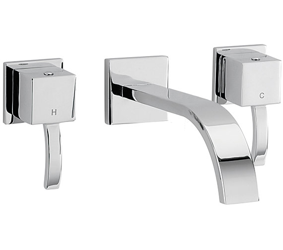 Sagittarius Arke 3 Hole Wall Mounted Bath Filler Tap 180mm