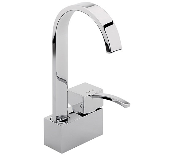 Sagittarius Arke Monobloc Basin Mixer Tap With Swivel Spout