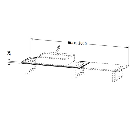 Technical drawing QS-V4511 / XL010C04040