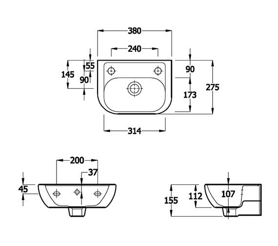 Technical drawing QS-V81325 / EC4007