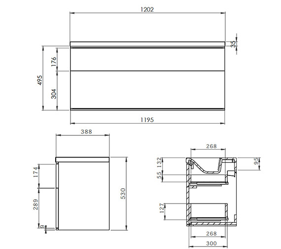 Technical drawing QS-V19690 / SCH1200D.GW