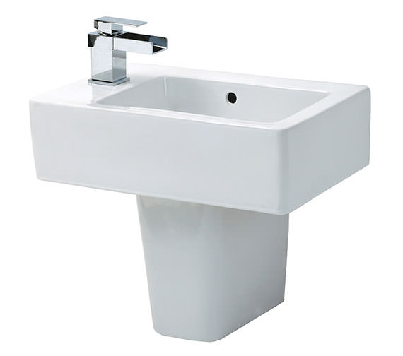 Phoenix Qube Basin And Semi Pedestal 475mm Wide