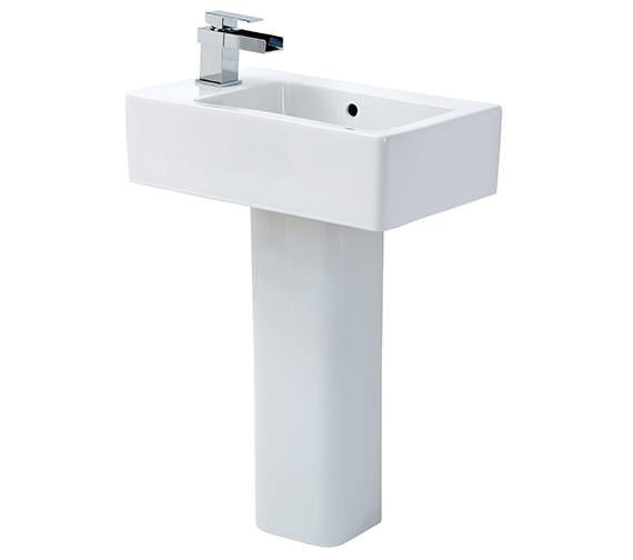 Phoenix Qube Basin With Full Pedestal 475mm Wide