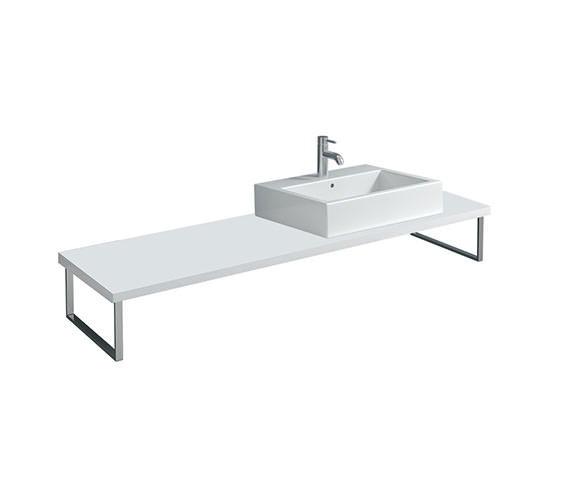 Duravit X-Large 800 x 480mm White Matt 1 Cut Out Console - XL010C01818