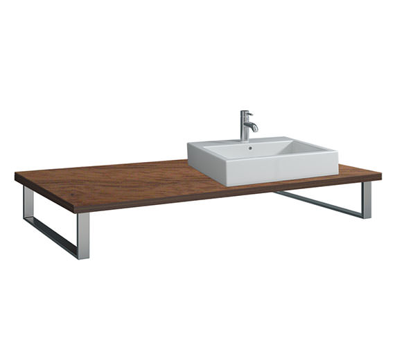 Duravit X-Large 800 x 550mm American Walnut 1 Cut Out Console - XL025C01313