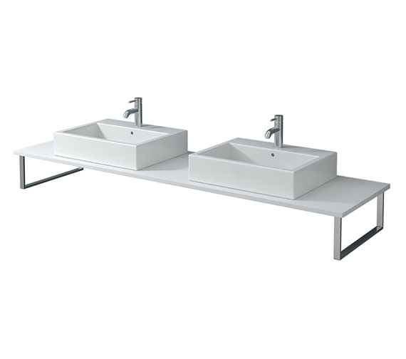 Duravit X-Large 800 x 550mm White Matt 2 Cut Out Console - XL045C01818