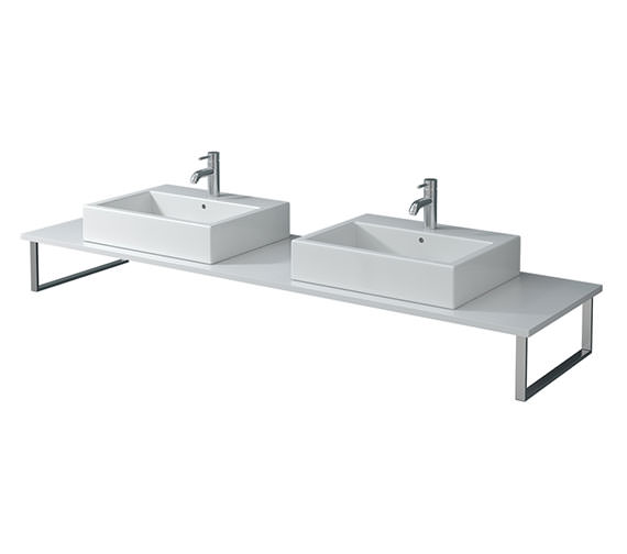 Duravit X-Large 800 x 550mm White High Gloss 2 Cut Out Console - XL045C02222