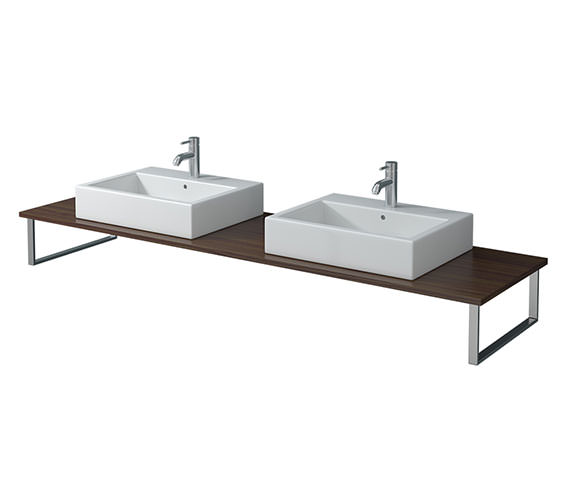 Duravit X-Large 800 x 550mm American Walnut 2 Cut Out Console - XL045C01313