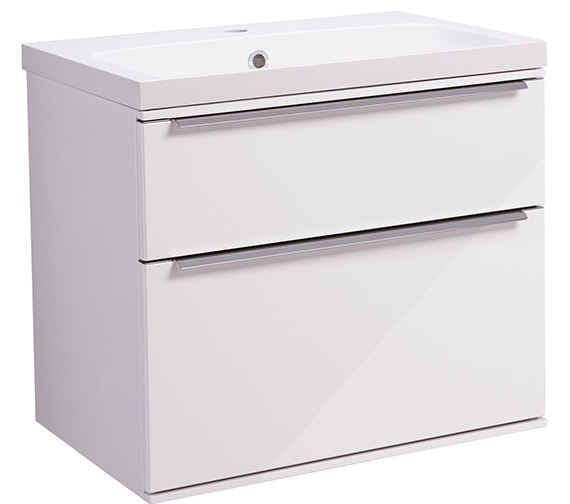 Roper Rhodes Scheme 600mm Gloss White Wall Mounted Basin Unit