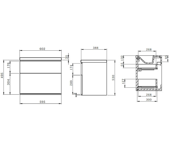 Technical drawing QS-V35039 / SCH600D.GW
