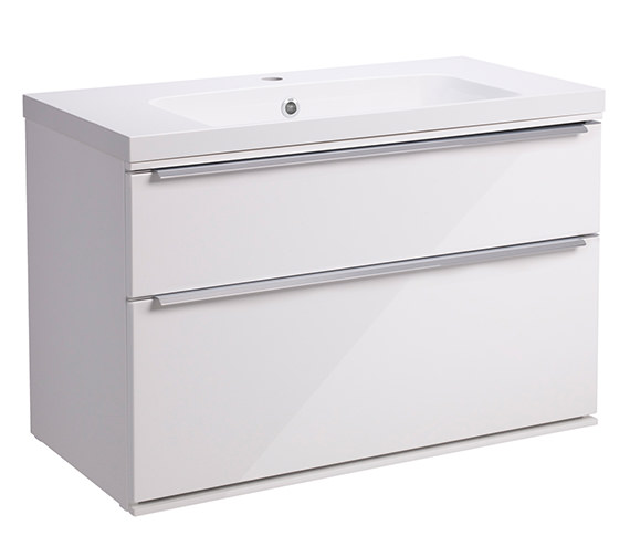 Roper Rhodes Scheme 800mm Gloss White Double Drawer Vanity Unit - More Optional Finishes