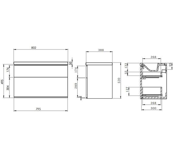 Technical drawing QS-V58466 / SCH800D.GW