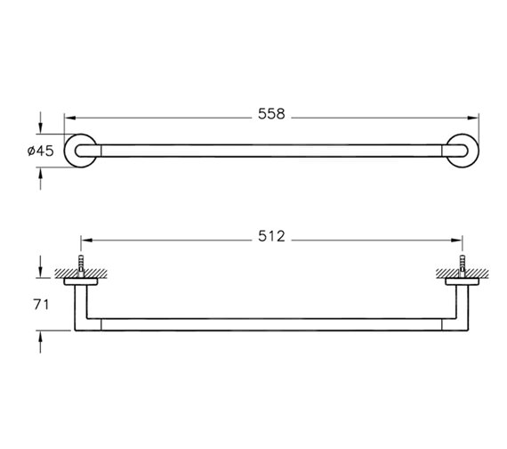Technical drawing QS-V57895 / A44784EXP
