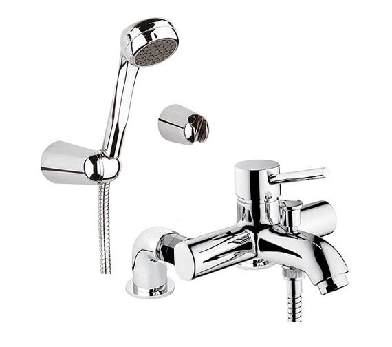 VitrA Minimax S Bath Shower Mixer Tap With Showerhead - A42112VUK