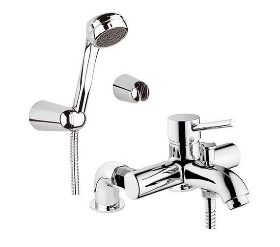VitrA Minimax S Bath Shower Mixer Tap With Showerhead - A42112VUK