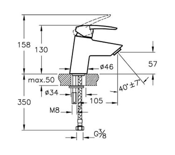 Technical drawing QS-V57901 / A40950VUK