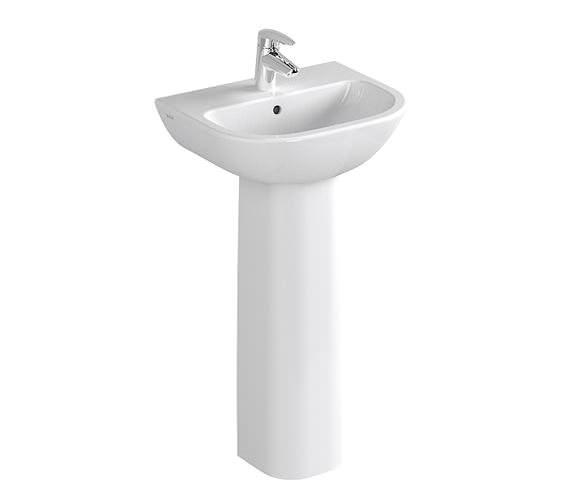 VitrA Layton 1TH Washbasin 45cm With Full Pedestal - 5270L003-0999