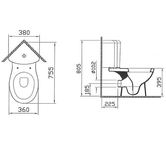 Technical drawing QS-V59750 / 6623L003-0838
