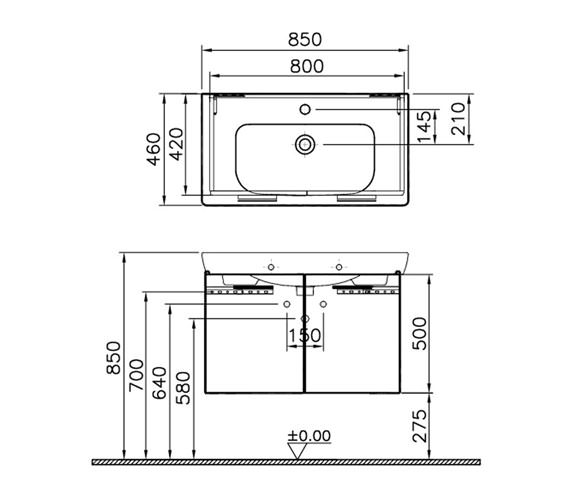 Technical drawing QS-V79464 / 54784
