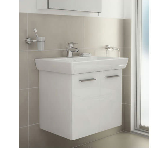 VitrA S20 850 x 460mm Vanity Unit And Basin White High Gloss