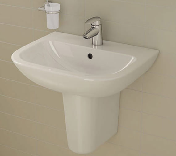 VitrA S20 1 Tap Hole Cloakroom Basin 450mm - 5500L003-0999