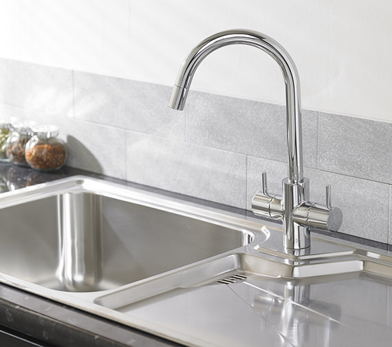 Alternate image of Astracast Geo 1.5 Bowl Composite ROK Metallic Inset Sink And Tap Pack